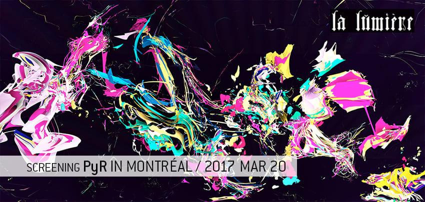 PyR presentation in Montréal